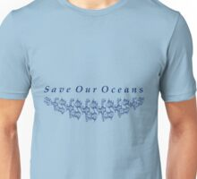 Save Our Oceans with Fish Motiff Unisex T-Shirt