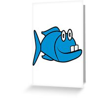 funny fish Greeting Card