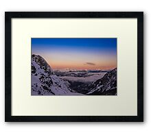 Sunrise from Wedgemount Lake Framed Print
