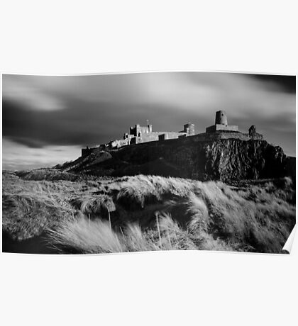 Sunset at Bamburgh Castle, Northumberland Poster