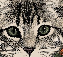 meadow god lion cat Sticker