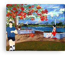 Late Afternoon Story Bridge from Stamford Plaza Lawn Canvas Print