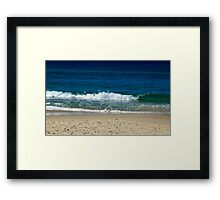 A Nice Day At The Beach Framed Print
