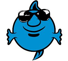 funny happy sunglasses Puffer by Motiv-Lady