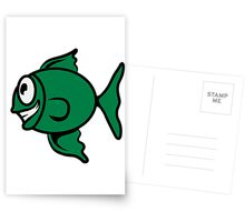 funny happy fish Postcards