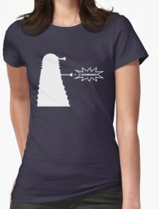 Exterminate (white) Womens Fitted T-Shirt