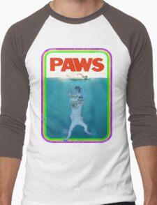 Jaws (PAWS) Movie parody T Shirt Men's Baseball ¾ T-Shirt