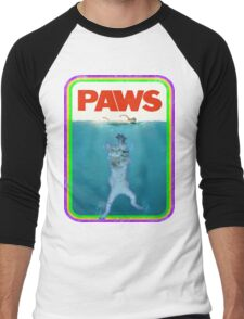 Jaws (PAWS) Movie parody T Shirt Men's Baseball ¾ T-Shirt