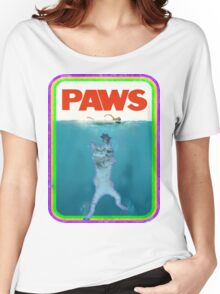 Jaws (PAWS) Movie parody T Shirt Women's Relaxed Fit T-Shirt