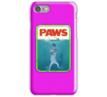 Jaws (PAWS) Movie parody T Shirt iPhone Case/Skin