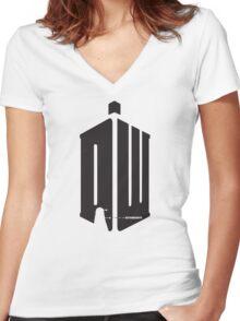 Dalek (exterminate) Women's Fitted V-Neck T-Shirt