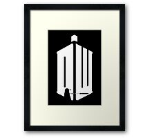 Dalek (exterminate/white) Framed Print