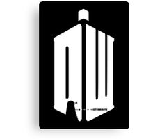 Dalek (exterminate/white) Canvas Print