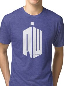Dalek (exterminate/white) Tri-blend T-Shirt