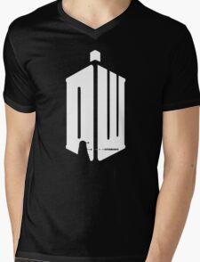 Dalek (exterminate/white) Mens V-Neck T-Shirt