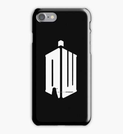 Dalek (exterminate/white) iPhone Case/Skin