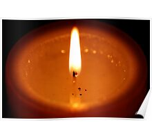 Candle Flame Poster