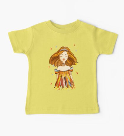 Girl in feather dress Baby Tee