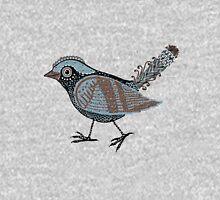 """Wacky Bird""  Blues Brown Blk Hoodie"