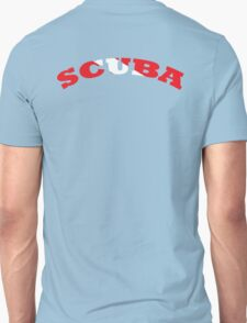 SCUBA WITH SCUBA DIVING FLAG RED AND WHITE  T-Shirt