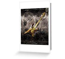 Heavy Metal Guitar Greeting Card