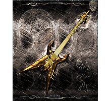 Heavy Metal Guitar Photographic Print