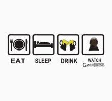 Eat Sleep Drink Watch Game Of Thrones by seazerka