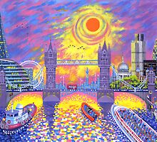 Sunset-Pool of London by David Newton