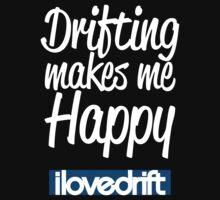 Drifting Makes Me Happy!!! Kids Tee