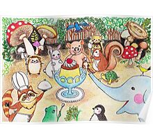 Animal Party in the Deep Forest Poster