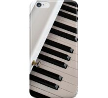 white piano keyboard iPhone Case/Skin
