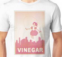 Skipping Girl Vinegar Vintage Screen Print Unisex T-Shirt