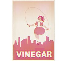 Skipping Girl Vinegar Vintage Screen Print Photographic Print