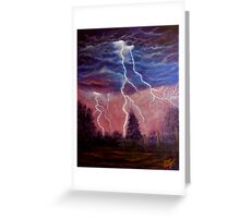 Thunder and lightning storm Greeting Card