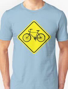 Cyclist Warning Sign v1 T-Shirt
