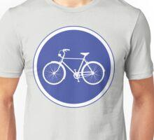 Cyclist Warning Sign v2 Unisex T-Shirt
