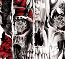 Melt down, grunge rose skull Sticker