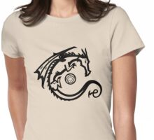 Dragon and Stone (for light t-shirts) Womens Fitted T-Shirt