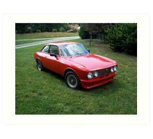 Red 1974 Alfa Romeo 2000 GTV Art Print