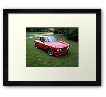 Red 1974 Alfa Romeo 2000 GTV Framed Print