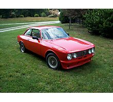 Red 1974 Alfa Romeo 2000 GTV Photographic Print