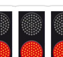 Five Red Lights Sticker