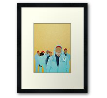 Team Zissou.  Framed Print
