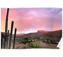 Arizona Desert Sunset Aravaipa Canyon Poster