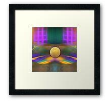 Magic windows, fractal abstract Framed Print
