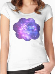 Karen and The Babes (Starry Font) Women's Fitted Scoop T-Shirt