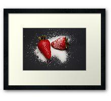 Strawberry with Sugar Framed Print