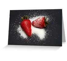 Strawberry with Sugar Greeting Card