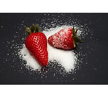Strawberry with Sugar Photographic Print