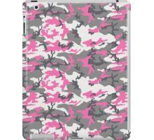 Pink White Gray Camo Pattern iPad Case/Skin